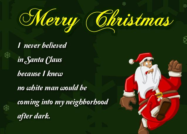 Funny Merry Christmas Card Quotes Image