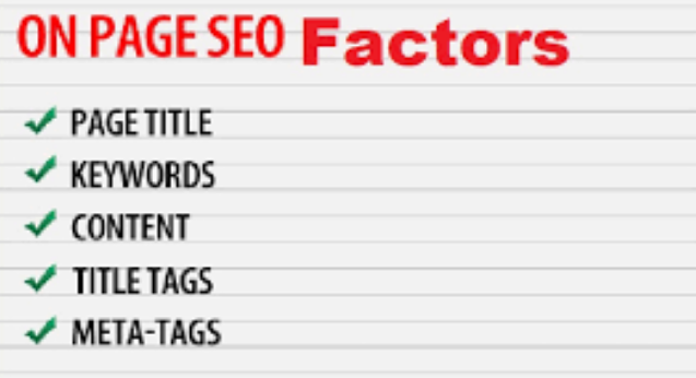 Top 50 on page SEO Factors