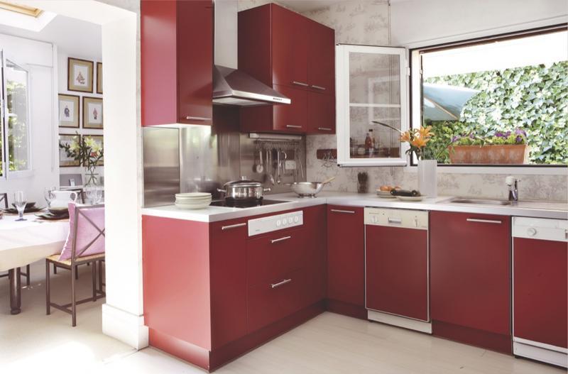 Cocinas En Rojo O Malva Vida Familiar - Cocinas-en-rojo