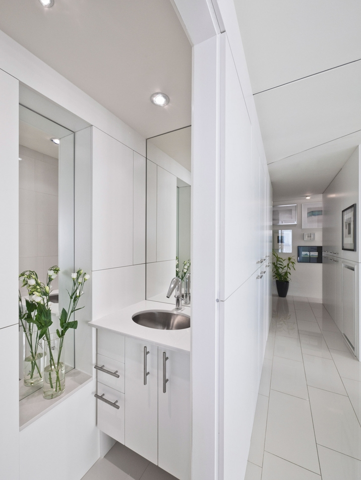 Small bathroom furniture in Modern apartment in Ottawa