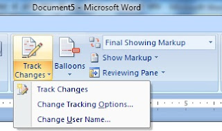 How to useTrack Changes in ms word