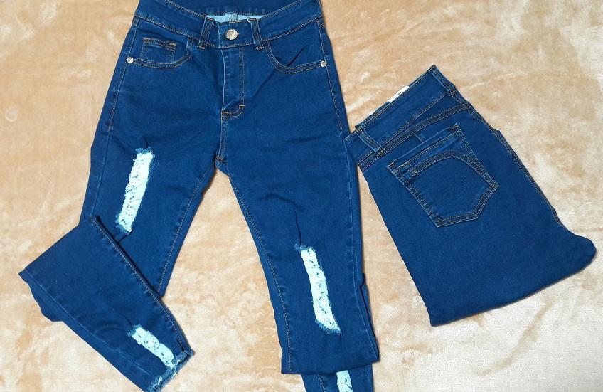 Modelo # 34 Pantalón Azul Mezclilla, Bolsas traseras