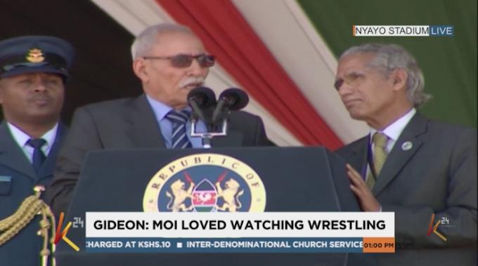 الرئيس الصحراوي يشارك في وداع الرئيس الكيني السابق دانييل أراب موي