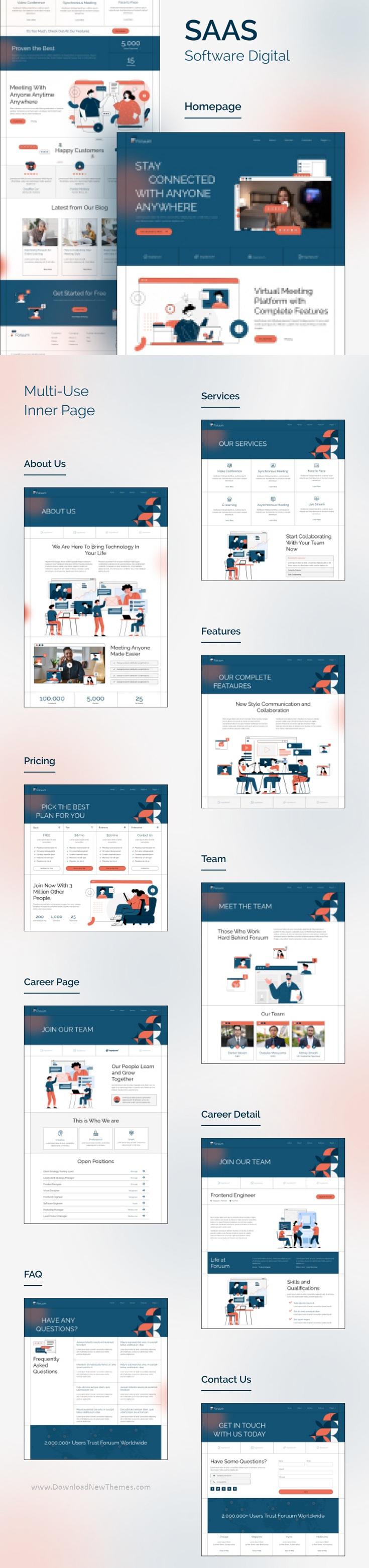 SaaS & App Elementor Template Kit