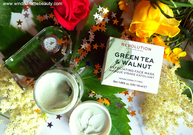 Green Tea & Walnut Exfoliating Face Mask