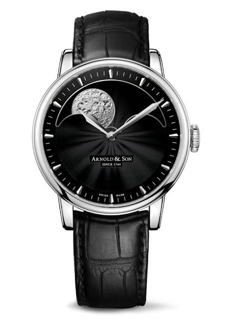 HM Perpetual Moon steel case with black guilloche dial