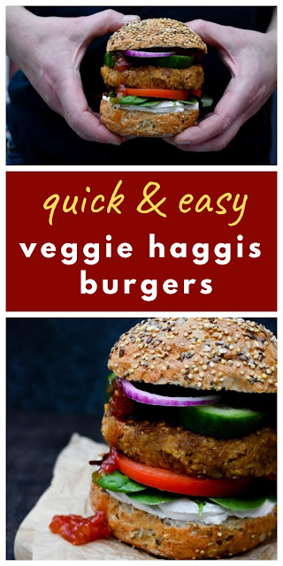 Instant Vegan Haggis, Neeps & Tatties Burgers