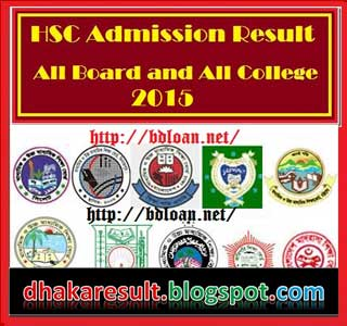 HSC Admission Result 2015 of All Board All College