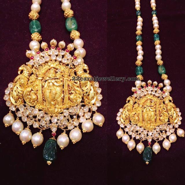 Lord Krishna Pendant with Beads