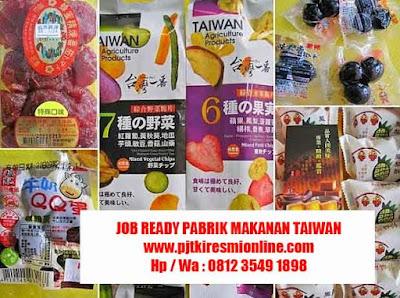 Job Ready Pabrik Taiwan, Pabrik Makanan Daging Juni 2019