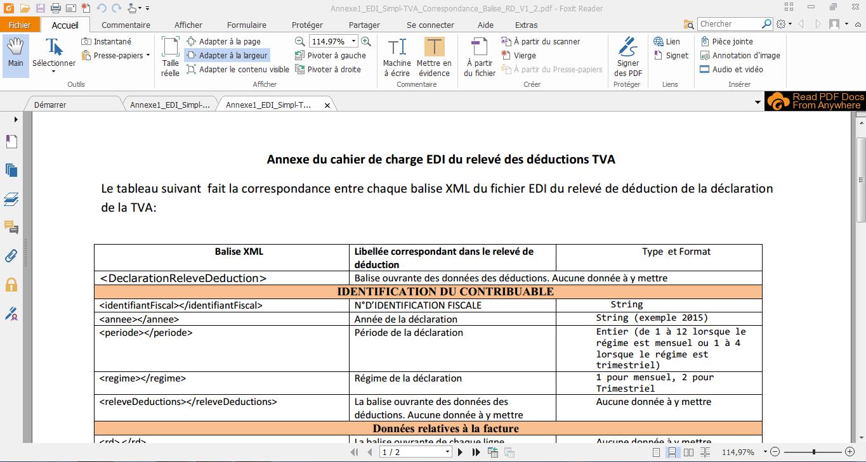 87 - explication de la télédéclaration de TVA en mode EDI et avec le traitement d'un exemple