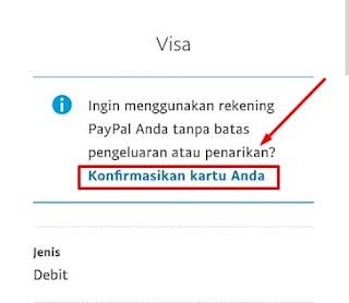 Konfirmasi Kepemilikan Kartu Debit