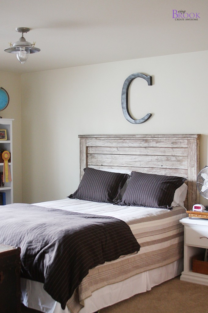 Teen Boy Bedroom Update {Light Fixture} | BeingBrook