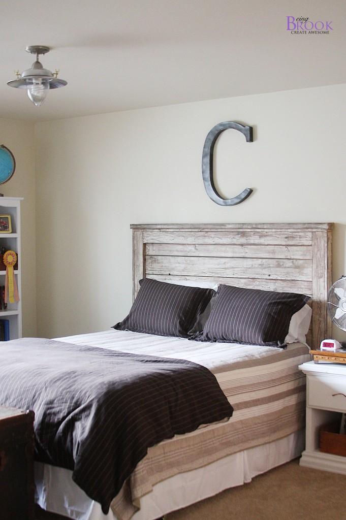 Teen Boy Bedroom Update Light Fixture Beingbrook