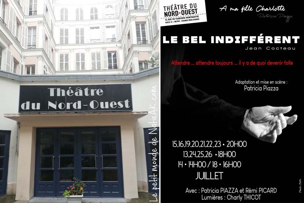 Théâtre Nord-Ouest Paris  Le bel indifférent