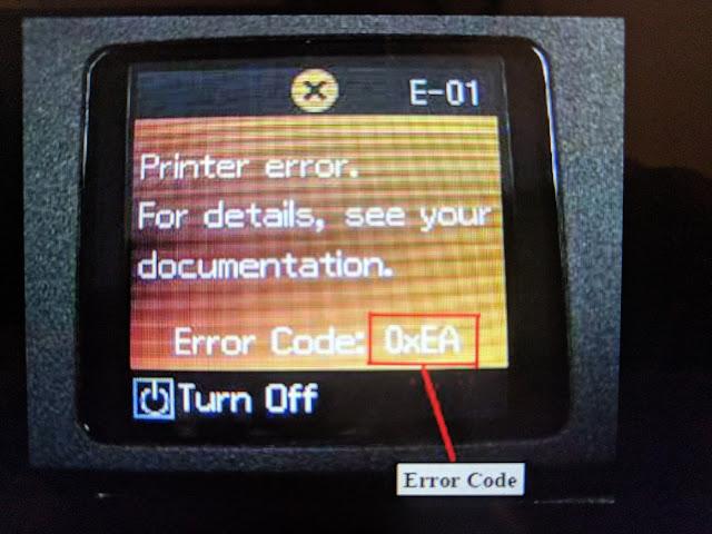 Error en impresoras de inyección