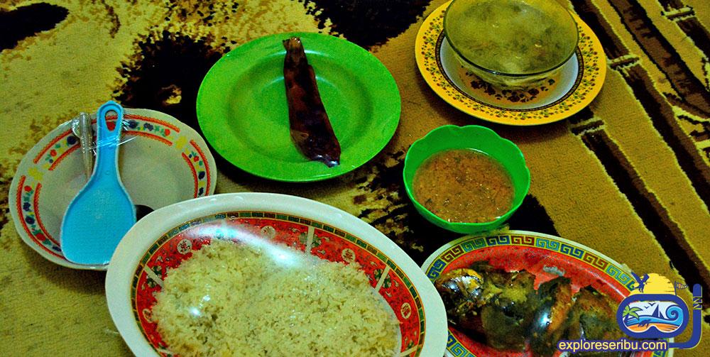 hidangan laut di open trip pulau pari