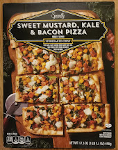 Box packaging for Specially Selected Sweet Mustard, Kale and Bacon Frozen Pizza