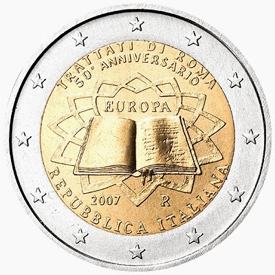 2 euro coins Italy 2007, Treaty of Rome