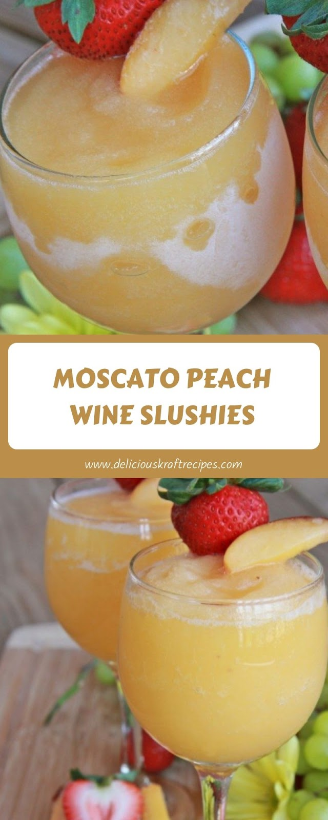 MOSCATO PEACH WINE SLUSHIES
