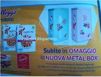 Logo Kellogg's ti regala o la Nuova Metal Box o la Vintage Metal Box