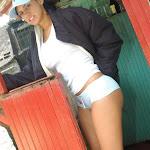 Andrea Rincon, Selena Spice Galeria 33: Gorra Azul, Cachetero Azul Foto 15