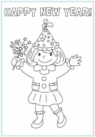 New Years Printable Coloring Pages Free H Y Year