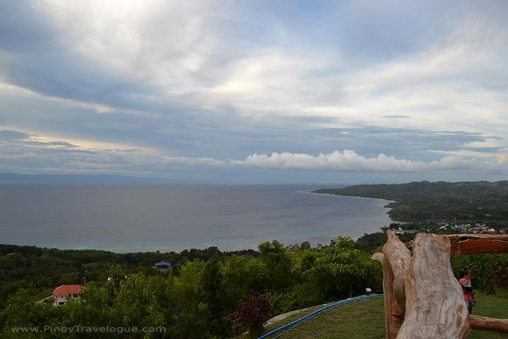 View of Siquijor coastline from Larena Triad