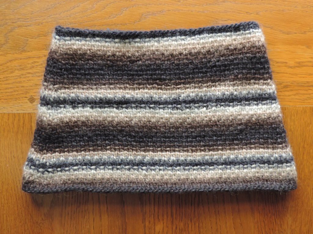 Knitting Now and Then: A Woven Stitch Cowl
