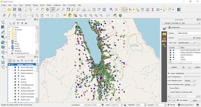 Data Toponimi skala 50.000 di QGIS