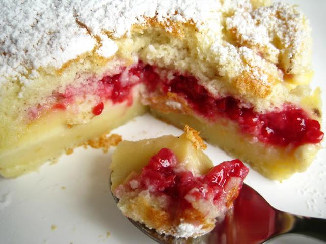 Recette gateau magique framboise : gâteau 3 couches