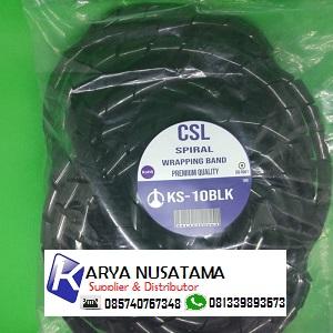 Jual Pelindung Kabel Model Spiral KS-10 Hitam / Putih di Jakarta