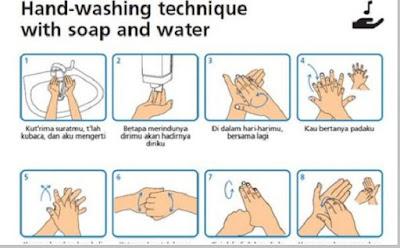 Tips mencuci tangan untuk mencegah penyebaran virus corona (covid-19)