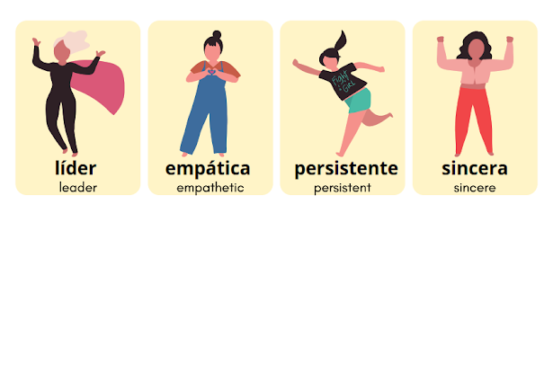 adjectives in Spanish to describe yourself