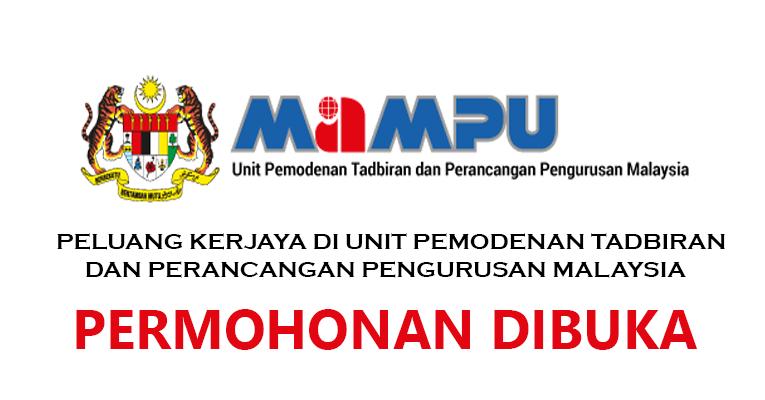 Jawatan Kosong di Unit Pemodenan Tadbiran & Perancangan Pengurusan Malaysia MAMPU