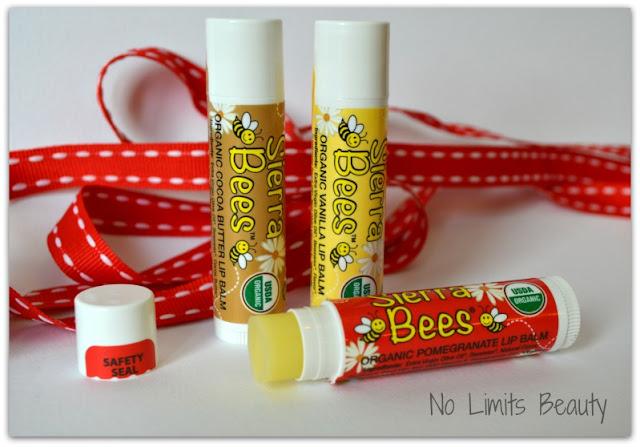 iHerb.com - Sierra Bees, Organic Lip Balms (Granada, Vainilla y Cacao - Pack de 3)