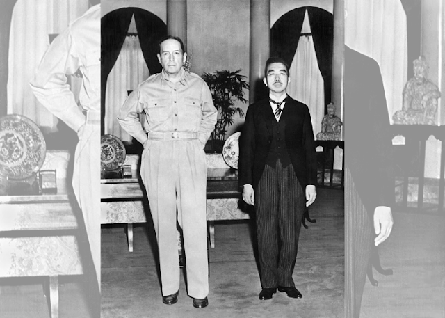 İmparator Hirohito ve Amerikalı General MacArthur ilk kez buluşuyor
