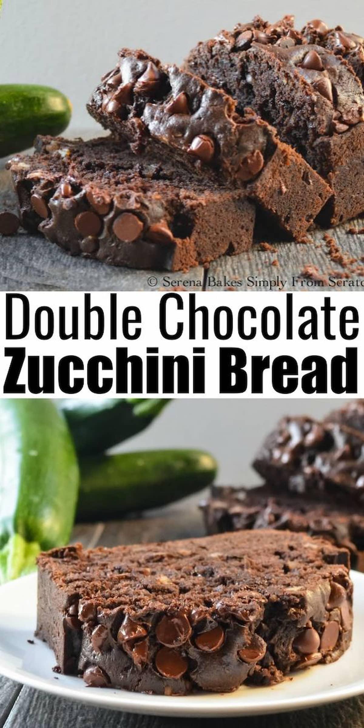 Double Chocolate Zucchini Bread recipe.