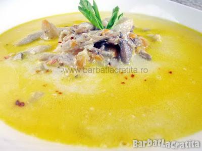 Supa de ciuperci cu smantana (imaginea retetei)