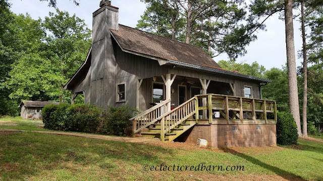 Farm Cabin. Share NOW. #lakeliving, #pecans #pecanfarm #eclecticredbarn