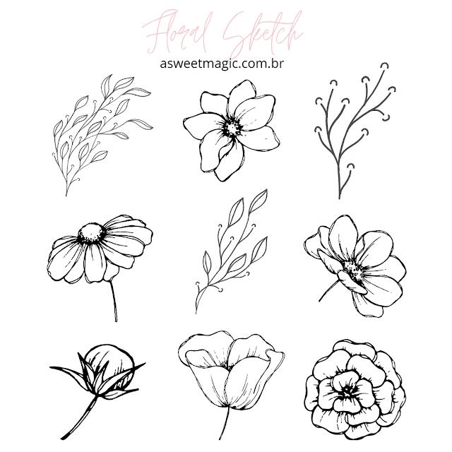 Flores minimalistas png