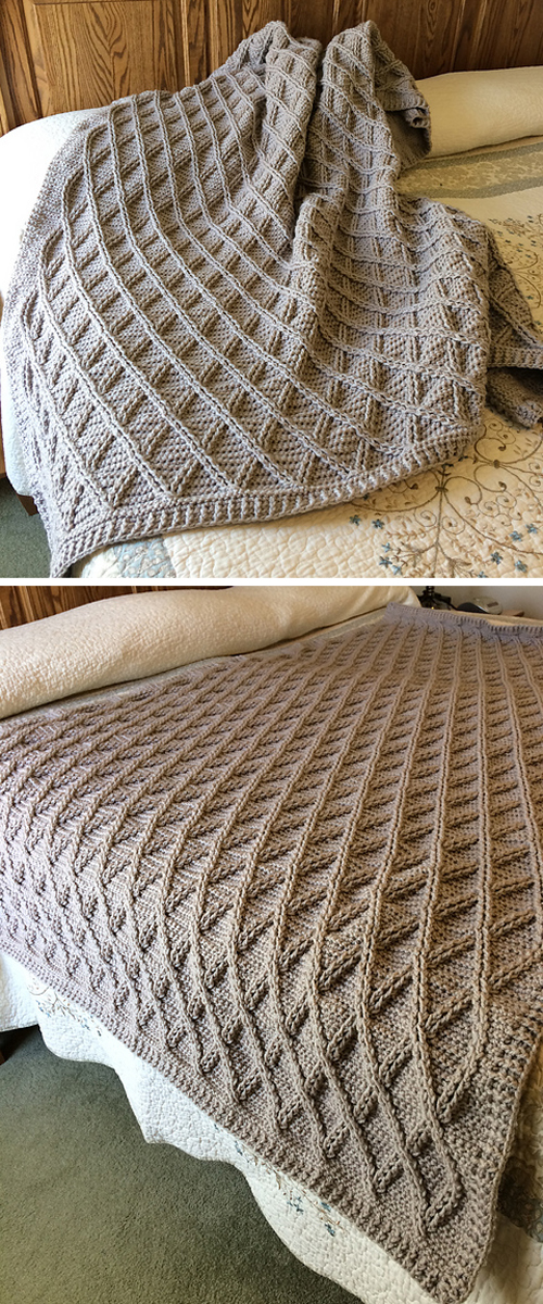 Once Upon A Cable Blanket - Knitting Pattern