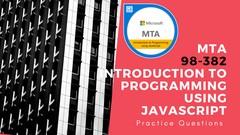 MTA 98-382 CERTIFICATION - JavaScript IMP QUESTIONS: MUST DO
