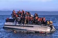 Overfarten fra Tyrkia til Hellas er blitt blokkert for syriske og irakiske flyktninger. Bilde.