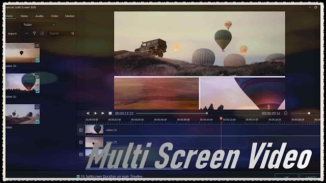 دورة تعلم وشرح filmora 9 شرح Split Screen تعلم How to Make a Multi Screen Video