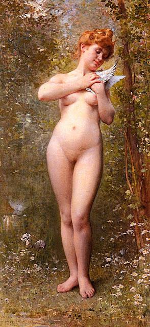 Léon Bazille Perrault - nudo femminile