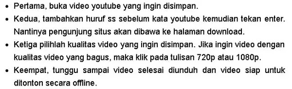 prosedur singkat menonton youtube