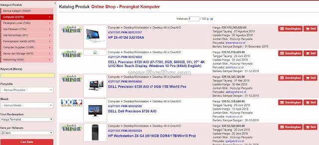 E Catalog Computer LKPP