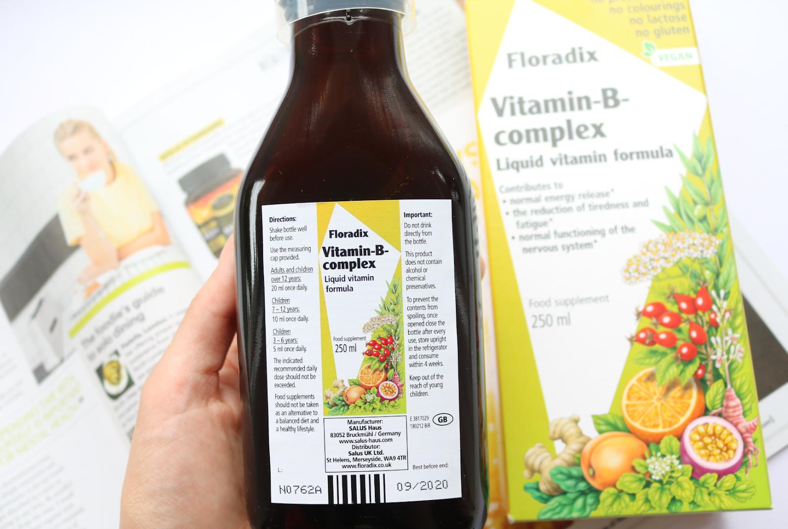 Floradix Vitamin B Complex Liquid Formula