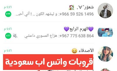 قروبات واتسش اب للتعرف على بنات سعوديات أفضل القروبات -قروبات واتس اب سعودية منوعة